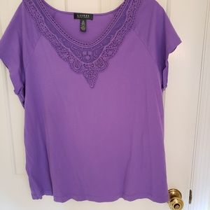 Lauren Ralph Lauren short sleeve purple t shirt